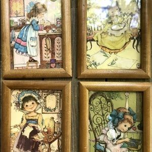 Other - Vintage Little Girls Pictures Cottage Decor